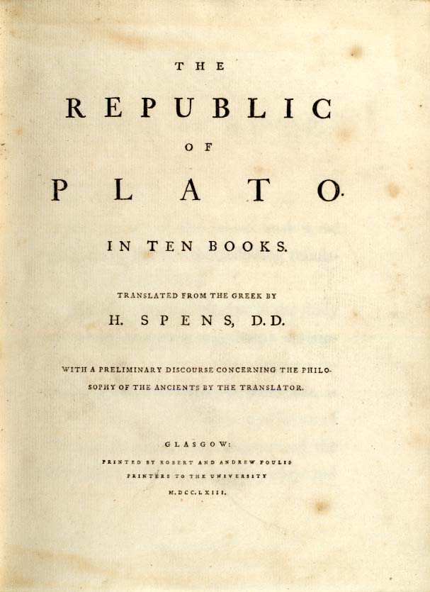 "an analysis of the works of plato Plato seems to believe that the perfect life is led only under perfect  plato's ""the republic"": summary & analysis  major works martha washington ."